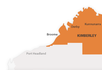 Map of Kimberley